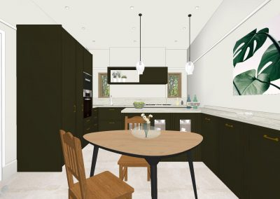 Primrose Hill – Grade II listed Victorian house kitchen, completion in Spring, 2020